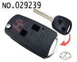 Lexus 2-button folding remote key casing