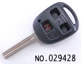 Lexus 3-button remote key shell