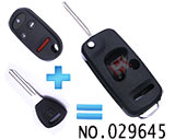 Honda 4-button modified folding remote key shell