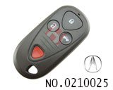 Acura car 3+1 button remote key shell(without logo)