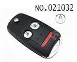 Acura 3-button flip chip Remote Key