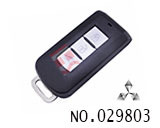Mitsubishi car 3-button smart key shell (without logo)