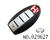 Infiniti 4 button smart remote key shell