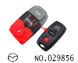 Mazda car 3-Button Remote Rubber for replacement