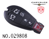 Dodge, Chrysler 6-button remote control smart key shell