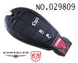 Dodge, Chrysler 4-button remote control smart key shell