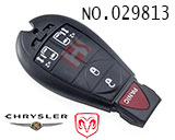 Dodge, Chrysler 5-button remote control smart key shell