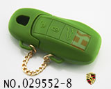 Porsche 3-button smart remote rubber (green)