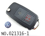 VW Passat car 2 button remote key shell set