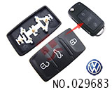 VW 3 button remote rubber replacement