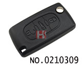 Peugeot 406 car three key folding remote control key shell
