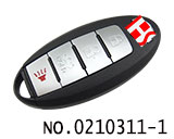 2014 Nissan Teana car four key intelligent remote control key