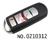Mazda car 4 button key smart key shell