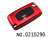 Peugeot/Citroen 3 buttons aluminium alloy folding key shell(0523/HU83/Red)