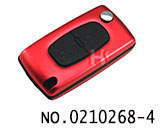 Peugeot Aluminium Alloy 2 Button Remote Folding Key Shell (0536/HU83/Red)