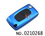 Peugeot Aluminium Alloy 2 Button Remote Folding Key Shell (0536/HU83/Blue)