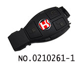 Mercedes-benz BGA 3 button smart card key cover(Upper cover)