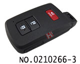 Toyota car 2+1 button smart remote key cover