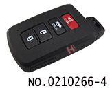 Toyota car 3+1 smart card key casing