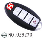 Nissan 4 buttons smart remote key shell