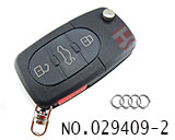 Audi car 3+1 button remote key shell set(small battery)