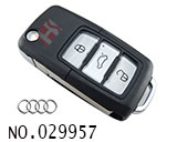 Audi A6 car 3 button modified flip remote key shell