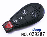 Jeep 5-button smart remote key
