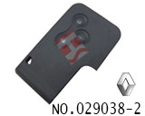 Renault car 3 button smart card key shell(without logo)
