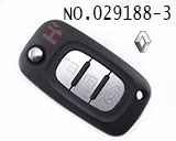 Renault car 3 button remote folding key casing