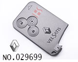 Renault car 3 button smart key casing