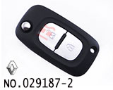Renault car 2 button remote folding key casing(without logo)