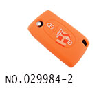 Peugeot car 3 button remote stereo tactile silicon rubber bag(orange)