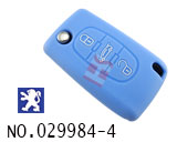 Peugeot car 3 button remote stereo tactile silicon rubber bag(blue)