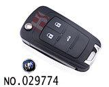 Buick Hideo GT car 3-button key remote control key casing