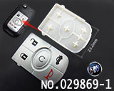 Buick Excelle 5-button remote rubber/replaceable pad