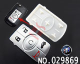 Buick LaCrosse  5-button remote rubber/replaceable pad
