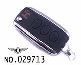 Bentley 3-button folding remote key