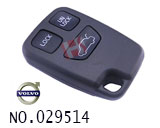 volvo 3-button remote key casing