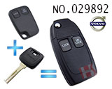 Volvo car 2-button remote control refit folding key