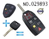 Volvo car 5-button remote control refit folding key
