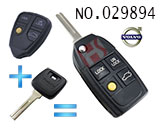 Volvo car 4-button remote control refit folding key