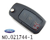 Mondeo carnival car 3 button remote flip key shell(set)