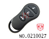 Chrysler car 3 button remote key shell(without logo)