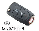 Great Wall Auto 3 button remote flip key shell