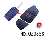 Fiat car 3-Button Remote Rubber for replacement(blue)