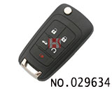 Opel 5-button remote folding key casing