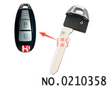 Emergency Smart Key Blade for Suzuki car smart key