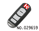 Mazda 4 button smart remote key shell