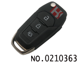 New Ford car 3 Button folding remote key case (trunk key)