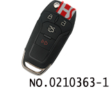 New Ford car 4 Button folding remote key case